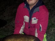 Night session at Barnwell lake in Cambridge paid off for Patryk Maciejczyk with 23 pounds of carp. Fishing happened on Monday 30/03/2015.