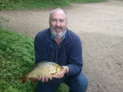 John Pope's record equalling 2lb 8oz Rudd caught From Dickos at Milton Country Park at the weekend. Caught on Red and White Maggot, June 2015