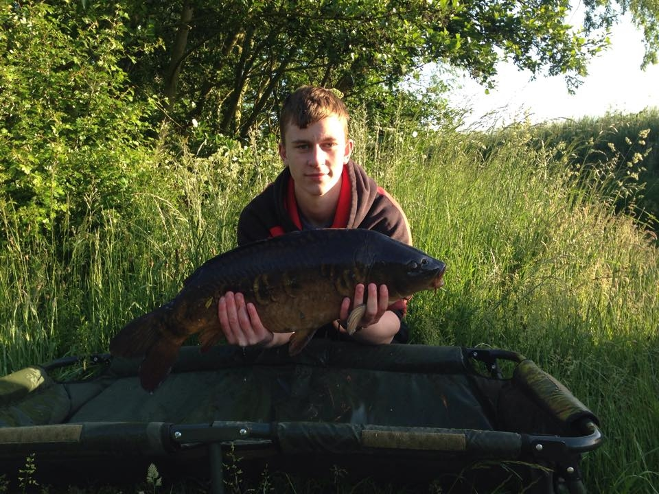 Elliot Roberts caught this 19lb mirror carp at a night session on heritage lake on 6/6/15